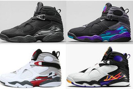 Wholesale Aqua Basketball Shoes - Wholesale Cheap 8 Basketball Shoes VIII Sneakers Aqua Bugs Bunny Phoenix Playoffs For 8 Mens Shoes For Basketball