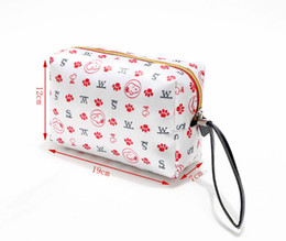 Wholesale Toiletry Gifts - Wholesale Kawaii Snoopy Cartoon Dogs Toiletry Bag 19*7*12CM Women Mini Handbags Cotton Cosmetic Bag Zipper Pen Bag Christmas Gifts