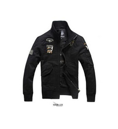 Wholesale Military Aviation - Men's jackets Autumn And Winter Men bomber jacket Military Aviation Decorative embroidery flight air force one Men's Clothing