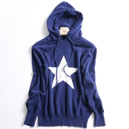 Wholesale Computer Points - Autumn and winter new star hooded sweater women cashmere sweater loose long-sleeved sweater five-pointed hat hood warm loose jacket
