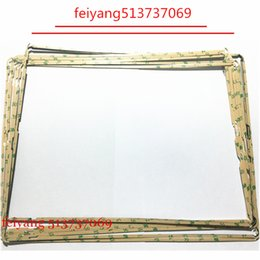 Wholesale Sticker Lcd - 100pcs LCD Middle Frame Touch Screen Digitizer Middle Bezel With Sticker Adhesive For ipad 2 3 4 Repair Parts