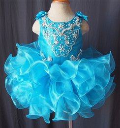 Wholesale Children Dance Images - 2017 New beaded crystal sequins children dance dress Girl's Pageant Dresses The first communion flower children's clothing