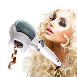 Wholesale pro curl hair styler - Fashion Pro steam Hair Curler LED hair curler Styler automatic Curling Iron Purple Hair Curler Universal Voltage Auto Curling Iron: