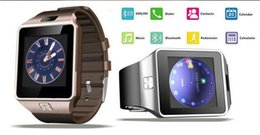 Wholesale Wholesale Heart Rate Watch - Top Quality Smartwatch Latest DZ09 Bluetooth Smart Watch With SIM Card For Android Samsung IOS Android Cell phone 1.56 inch