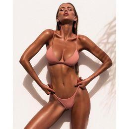Wholesale Thong Bain - swimwear women bikini brazilian biquini maillot de bain monokini thong string micro swimsuit mujer verano 2017