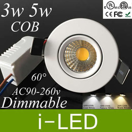 Wholesale Exhibition Lighting - Wholesale- White shell Mini Exhibition lamp Cob Led Ceiling Light Dimmable 5W 500LM Led Recessed Down Lights AC85-265V Led Spot light