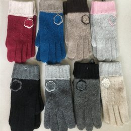 Wholesale Korea Glove Wholesale - Wholesale- 2016 Korea Style Winter Cozy Rabbit Fur Wool Gloves Women Thick Warm Casual Winter Knitted Gloves Ladies Wool Mittens Guantes