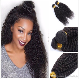 Wholesale Indian Weaving Natural Hair Colour - Beauty Products Super Soft High Quality Kinky Curly 8a Grade hair Natural Colour Cheap Brazilian Indian European Human Hair Weave