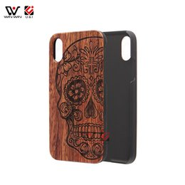 Wholesale Wood Pattern For Carving - Wood Carved Patterned Case for iPhone X Rosewood Hard PC Back Mobile Cover 5.8 Inch Red Animal Coque for Apple 10 X