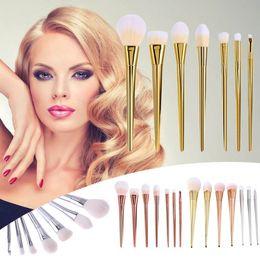 Wholesale Makeup Kit Use - 7 pcs Cosmetic Brush Set Powder Contour Eyebrow Blusher Foundation Brush Kit Makeup Brush Set Use Make up Tools