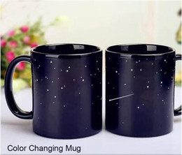 Wholesale Wholesale Eco Earth - Wholesale- Creative ceramic mug thermal induction temperature mug,Universe Solar system Earth Mug,Magic hot show mug