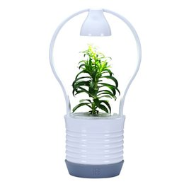 Wholesale Paint Abs Plastic - 2017 years led plant desk lamp plant growth desk light green light nurture a loving heart from young the gifte for kids
