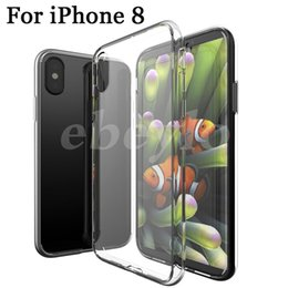 Wholesale Iphone Gel Skin - For iphone X Clear Soft TPU Case Transparent Crystal Cover Silicone gel Blank Skin Cell phone Luxury Shell
