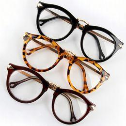 Wholesale arrow glass lens - Women Eyeglass Arrow Clear Lens Glasses Frame Round Designer UV400 Eyeglass