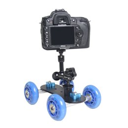 Wholesale Rail Dolly - Universal Track Skater Table Mini Desktop Camera Rail Dolly Car For Canon Nikon Pentax Sony DSLR Camera