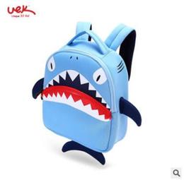 Wholesale Animal School Bag - Neoprene Waterproof School Bag Cartoon 3D Shark Children Backpack Kindergarten Kids Bag Shark School Bags Girls Boys Schoolbag