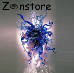 Applique murale en verre soufflé à la main 100% Applique murale en verre soufflé à la main Bleu ? partir de fabricateur