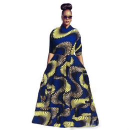 Wholesale Dress For Big Size Women - 2017 Spring Printed for African women plus size african clothing Casual Dresses Big Swiming Top And Long Skirts Plus Size Women Clothes