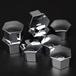 Wholesale Wheel Lugs - 20 x Wheel Lug Nut Center Cover Cap for PEUGEOT 3008 2008 508 408 308 307 Silver