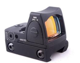 2019 visão docter 2017 Novo Estilo Reflex Tático Ajustável Red Dot Sight Scope para Rifle Scope Caça Tiro SZ0014
