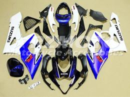 Wholesale Gsx K5 - 4 Gifts New ABS Bodywork Fairing For SUZUKI GSXR1000 05 06 GSXR-1000 GSX-R1000 K5 GSXR 1000 2005 2006 05 06 Fairings blue white TOP