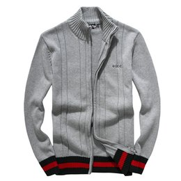 Wholesale Sweater Crew - Foreign trade original single men's Polo long sleeve sweater men hedging sweater half high zipper g sweater Men's cotton jacket 7127