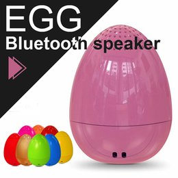 Wholesale Best Mini Portable Bluetooth Speaker - Christmas EGG Bluetooth Speaker Mini Music Player Wireless Outdoor Speaker TWS Bluetooth Speaker with Remote Camera Best Christmas Gifts