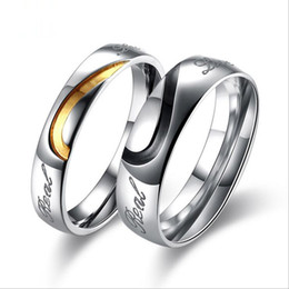 Wholesale Top Finger Rings China - Top Grade Couple Stainless Steel Rings Hot Sale Band Finger Lover Ring Men Women Party Gift Fahion Jewelry Wholesale Free Shipping 0447WH