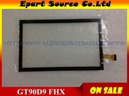 Wholesale Digitizer 9inch Tablet - Wholesale- A+ Free shipping 9inch touch screen 100% New touch panel Tablet PC touch panel digitizer GT90D9 FHX
