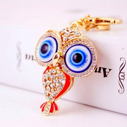 Wholesale Owl Accessories For Girls - New Arrival Fashion Owl Pendant Keychains For Lady Metal Keychain Key Chains Rings Luxurious Jewelries Accessories Whoelsale