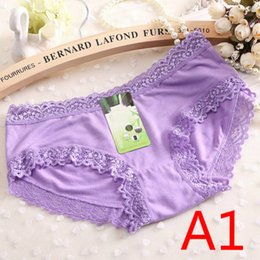 Wholesale Girls Pants Blue Lace - Korean version of the candy color multi-color modal girl underwear ladies underwear whole single pants wholesale