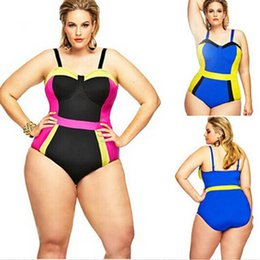 Wholesale Woman Fat Suits - Strap bikini print swimsuits for women sexy one piece swimsuit plus size swimwear 4xl bikinis swimsuit bathing suits fat womens swimsuits