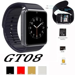 Wholesale Recording Package - GT08 Smart Watch DZ09 U8 A1 Wrisbrand Android Smart SIM Intelligent mobile phone watch can record the sleep state Smart watch with package