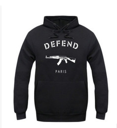 Wholesale Coat Colorful Men - fashion cotton sweatshirts men and woman hoodies sport coat colorful casual sweater DEFEND paris AK47 long-sleeve sweatshirts