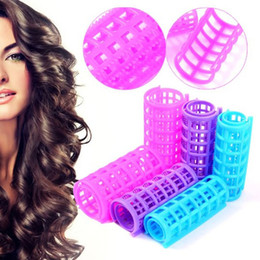 Wholesale Large Hair Curlers Rollers - Plastic Hair Rollers Hair Curlers DIY Hair Salon Curlers Rollers Tool Soft Large Hairdressing Tools 6 8 10 12pcs