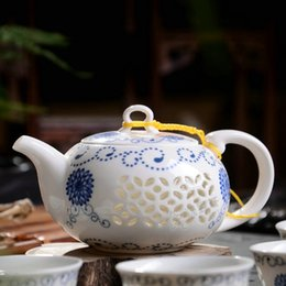 Wholesale Chinese Glass Teapots - blue-and-white exquisite ceramic teapot kettles tea cup porcelain chinese kung fu tea set drinkware