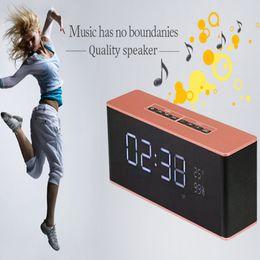 Receptor de alarme on-line-LP-06 Portátil Bluetooth Speaker Receptor Multifuncional Super Bass Alto-falantes Sem Fio Apoio TF FM Despertador DHL livre MIS511