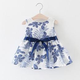 ee80087dc86 China 2017 Summer Baby Girl Dress Kids Sleeveless Bow Bird Dresses Girls  Clothes 4pcs lot Children