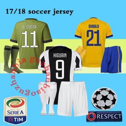 Wholesale Free Soccer Jerseys - HIGUAIN soccer jerseys 2018 best quality DYBALA Jersey kit full sets with socks Marchisio D.COSTA BONUCCI jerseys shirts Free shipping