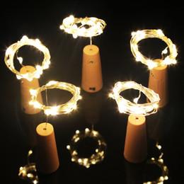 светильники Скидка 1М 10 LED 2М 20LED лампы Корк Shaped пробка бутылки вина лампы светодиодные серебряной проволоки огни строки на Рождество свадьба поставок