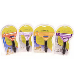 Wholesale Cat Hair Types - Pet Brush for Dog and Cat deShedding Tool Grooming Yellow Long Hair Short Hair for Dog Cat Free Shipping