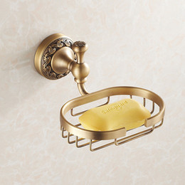 Wholesale Ceramic Dishes Wholesale - Antique Bronze Finish Brass Soap Basket  Soap Dish Soap Holder Wall Mounted Brass Finished Bathroom Accessories