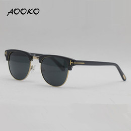 Wholesale Cat Eyes Retro Sunglasses - AOOKO Hot Sale Sunglasses Women Designer Men henry Club Polarized Sunglasses Master Retro sun glasses Fashion TF0248 Italy Brand 0248 51mm