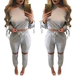 Wholesale Casual Yoga Clothes - 2017 New Arrival Womens Clothing Low Price Casual Wear spring style sweat shirt Print tracksuit women Long Pants Set Sports Suit Cotton Suit