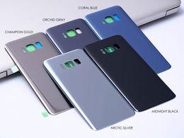 Canada 5 PCS OEM Nouveau Remplacement En Verre batterie porte boîtier Pour Samsung Galaxy S8 S8 + S8 Plus G950 G955 cas de couverture arrière avec adhésif Offre