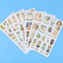 Wholesale Doll Mate - Wholesale- 6 Pcs   Pack Free Shipping Cute Stickers Paper Girl Combination Paper Doll Mate