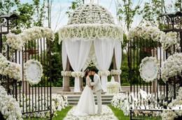 """80 """"(200 cm) Super lungo fiore di seta artificiale ortensia glicine ghirlanda per il giardino casa decorazione di nozze forniture da grandi vasi all'ingrosso fornitori"""
