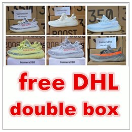 Wholesale Shoe Unisex Outdoor - Free DHL double box Season 3 SPLY 350 Boost V2 With Box Best Quality men shoes women running Shoes Sneakers 350 Boost V2 basketball shoes