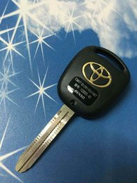Wholesale Toyota Key Fob Shells - Toyota Previa Replacement Key Case Fob Blank Cover 2 Buttons Toy43 Blade Remote Key Shell+Free shipping