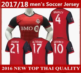 Wholesale Homes Toronto - Canada Toronto FC Soccer jersey new 2017 2018 BRADLEY GIOVINCO OSORIO ALTIDORE football shirt 17 18 MLS Toronto home Thai quality jerseys
